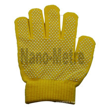 NMSAFETY pvc dots on coton gloves