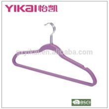 Набор из 3шт резиновой лакированной вешалки для одежды ABS с вырезами и стержнем