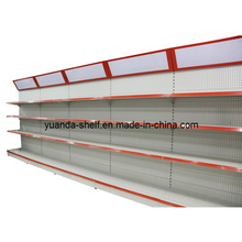 Steel Material Supermarket Goods Display Back Hole Shelf