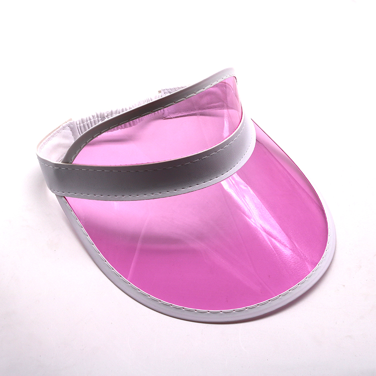 pink transparent pvc visor cap