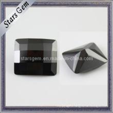 Low Price Black Rectangle Checker Cut Cubic Zirconia Gemstone