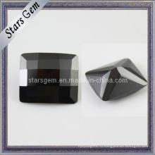 Низкая цена Черный прямоугольник проверки Cut кубического циркония Gemstone