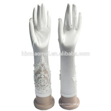 2017 Luxury Wedding Bridal Short Satin Gloves