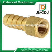 Factory price cw617n forging brass oil and gas and water hose barbed pipe fitting connector with npt female treading