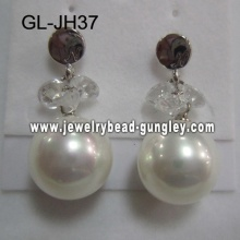 sexy shell pearl earrings
