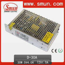 30W 5V/12V Small Volume Dual Ouput Switching Power Supply with 2 Years Warranty (AD-30A)