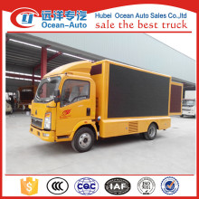High quality HOWO mobile advertising led display , LED truck for sale