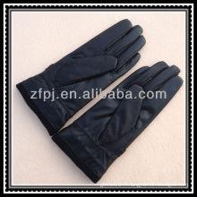 Gants de poignet élastiques tricotés au cuir en cuir 40cm