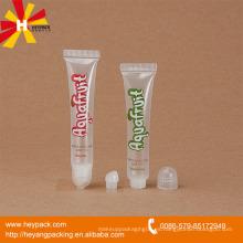 Tubo transparente de brillo labial de 16ml con tapa roscada redonda