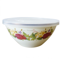 Enamel Salad Bowl with Cover (CY205D)