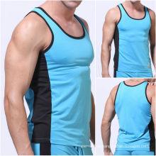 Camisa sem mangas do esporte dos homens