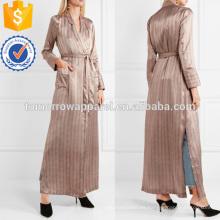 Vestido a rayas de satén de seda Fabricación al por mayor de prendas de vestir de las mujeres (TA3008C)