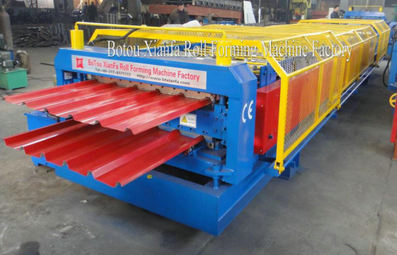 double trapezoidal roll forming machine