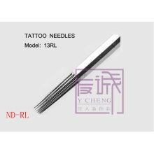 50 Pack Agulhas de tatuagem esterilizadas pré-fabricadas, agulhas de bar / Round liner