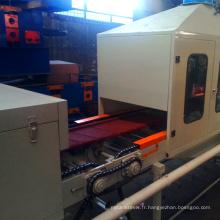 Nouvelle technologie couleur pierre métal ligne de production couleur pierre enduit tuile de toit faisant la machine