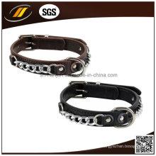 Verstellbarer Leder Hundehalsband Handgefertigte Leder Haustier Kragen