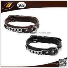 Adjustable Leather Dog Collar Handmade Leather Pet Collar