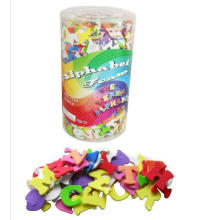 wholesale colorful Alphabet foam sticker packed in tube