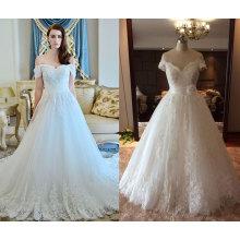 Vestido de novia de la boda de Tulle de manga corta