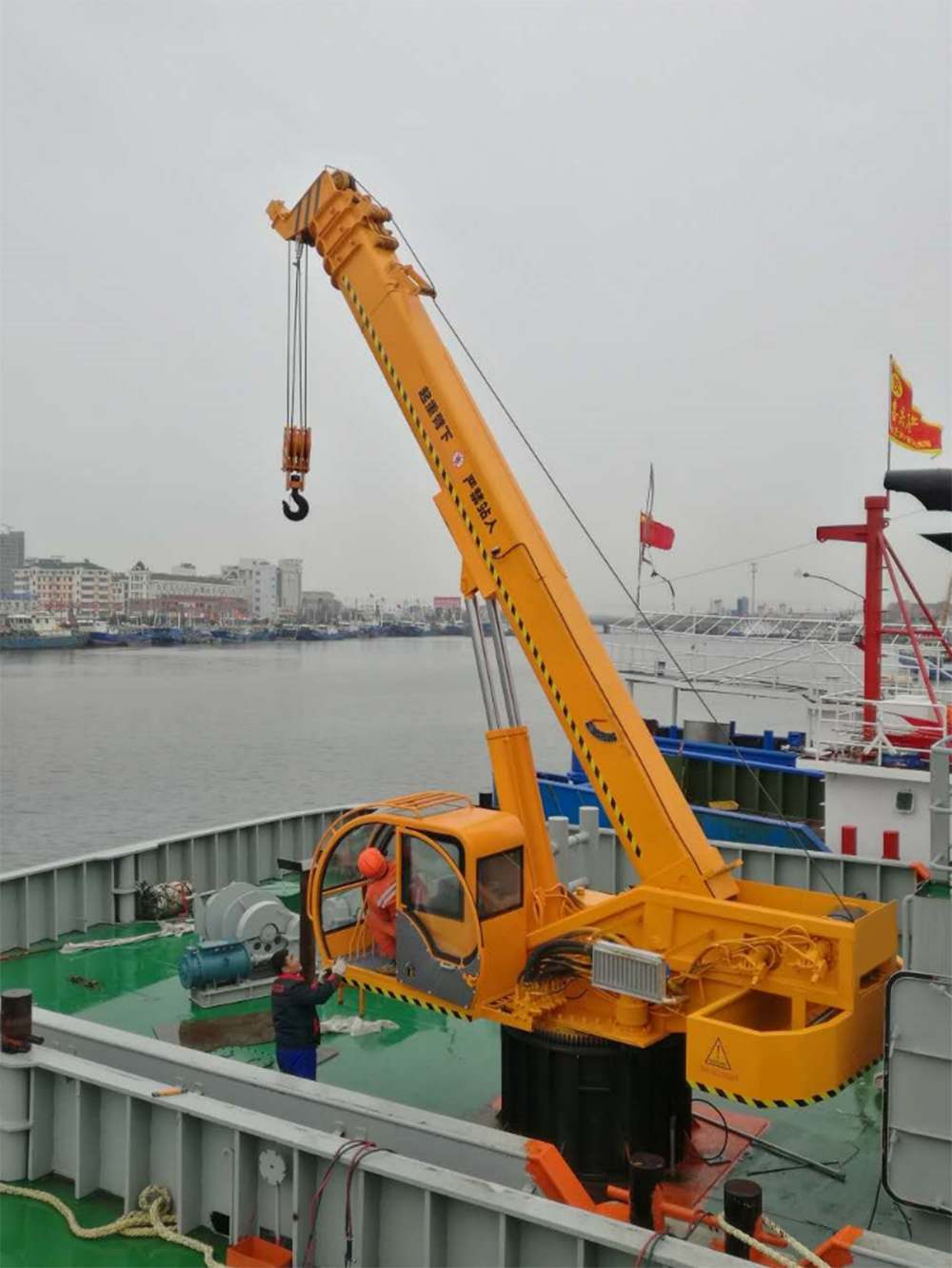 marine deck crane for sale