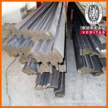 310 s acier inox brillant barre plate
