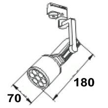 2015 Nouveau design bas prix piste spot lumière rotative led track light