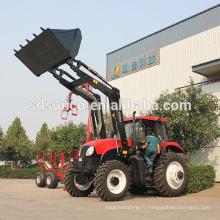 Tracteur agricole avec chargeur frontal