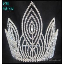 Mode große Festzug Kronen maßgeschneiderte Kronen hohe Festzug Krone Tiara