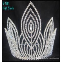 Moda coroas de desfile grande coroas personalizadas tiara coroa alta