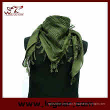 Cheap Mens Military Camouflage Fish Net Mesh Army Polyester Scarf Army Green