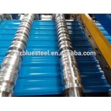 Wellblech-Dachblechherstellungsmaschine, gebrauchte Metalldachtafel-Walzenformmaschine