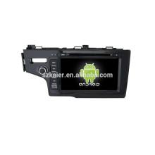 Quad coreHot vendre !! système de divertissement de navigation de voiture, Bluetooth, MIRROR-CAST, AIRPLAY, DVR, Jeux, Dual Zone, SWC pour Honda Fit 2014