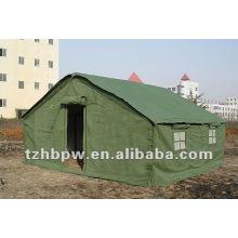 Tenda de tela verde tradicional