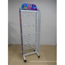 Suporte de chão personalizado Candy Store Display Prateleiras Unidades Gridwall Prateleiras Gancho de metal Candy Display Shelf