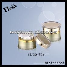 Frascos de almacenamiento de acrílico hermético 50g, frascos de almacenamiento de acrílico hermético redondo de 30g, frascos de almacenamiento de acrílico hermético 15g con labio
