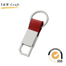 Chaveiro de Metal de couro de venda quente com alta qualidade (Y03621)