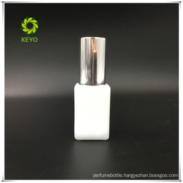 best selling empty square pump cap cosmetic OPAL white glass bottle