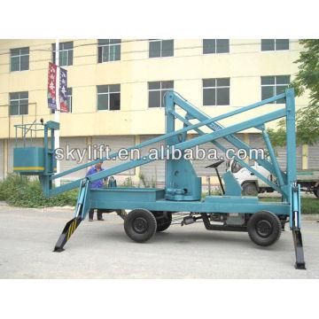 Elevador de lança telescópico diesel seguro e eficiente