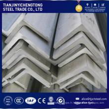 Barre d'angle fendue d'acier inoxydable 304 avec la longueur standard