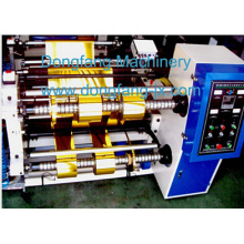 Silver Al Foil Jumbo Roll Cutting Machine Horizontal Type