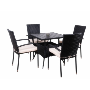 Hot Sale for for Patio Furniture Sets 5pc rattan dining set for coffee shop supply to Zambia Wholesale