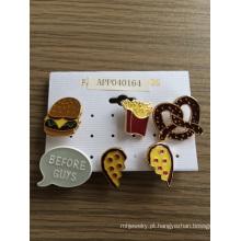 Coração adorável de Chips de Hamburgo com broche de esmalte