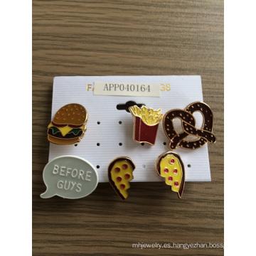 Corazón encantador de Chips de Hamburgo con broche de esmalte