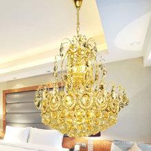 Laiting pequena torre de cristal em torno do grande lustre luz pingente hotel LT-73050