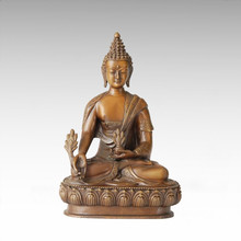 Buddha-Statue Bhaisajyaguru Bronze-Skulptur Tpfx-B44