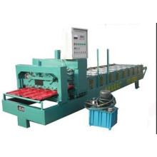 Máquina formadora de rolos de telha esmaltada de aço galvanizado