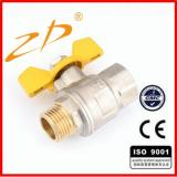 Brass ball gas valve ZD-1302B(F/M)