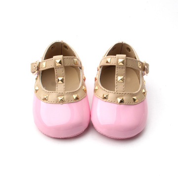 T-bar Soft Sole Leather Baby Shoes For Girls