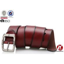 Durable cowskin genuine leather belts for men luxury