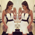 2017 hot sell party wear women dress sexy blackless package hip dress women party
